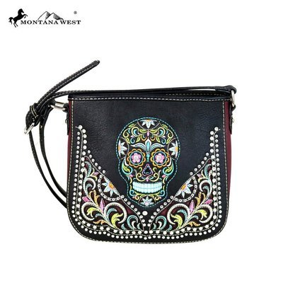 Montana West Sugar Skull Crossbody - Black