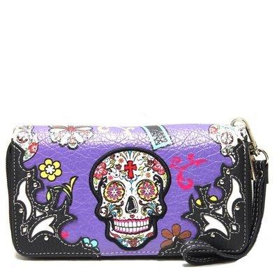 Sugar Skull Wallet Purple