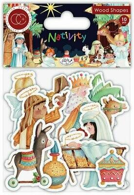 Craft Consortium NATIVITY Wooden Shapes 10 pcs