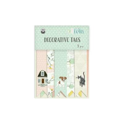 P13 We Are Family Decorative tags 03 9 pcs