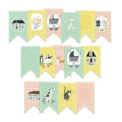 P13 We Are Family paper die-cut banner 15 pcs