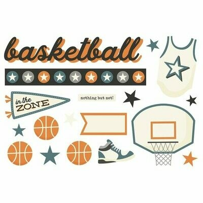 Simple Pages Page Pieces BASKETBALL