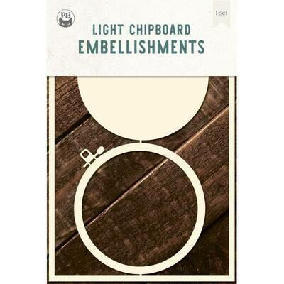 P13 Light Chipboard Album Base EMBROIDERY HOOP 04