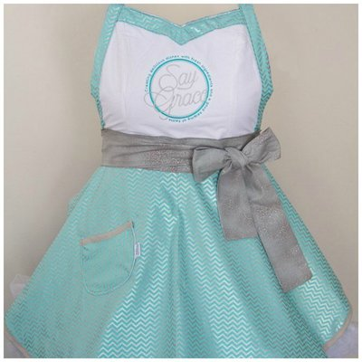 Custom Say Grace Apron