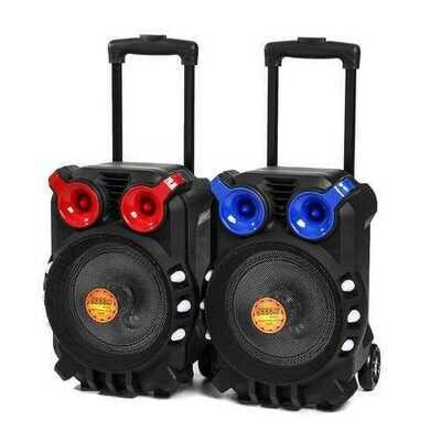 Trolley bluetooth Audio Speaker Light Singing TFT Display USB TF BT Karaoke KTV System