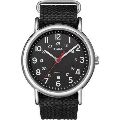 Timex Weekender Slip-Thru Watch - Black