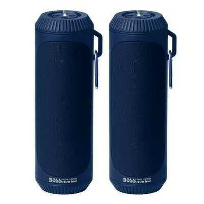 Boss Audio Bolt Marine Bluetooth&reg Portable Speaker System with Flashlight - Pair - Blue