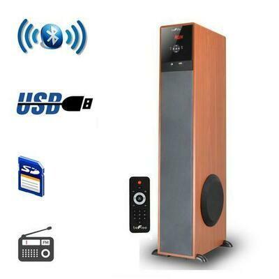 beFree Sound Bluetooth Tower Speaker - Wood