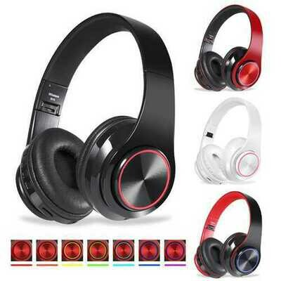 Bakeey BH3 Foldable LED Flashing Stereo bluetooth Headphone Heavy Bass AUX TF Card