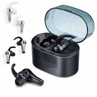 [True Wirelss] QY1 TWS 5.0 Dual bluetooth Earphone Stereo English Prompt Headphone with Charging Box