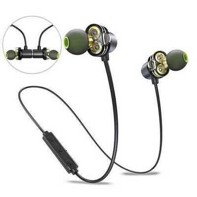 [Dual Dynamic Drivers] AWEI bluetooth Earphone Magnetic Noise Cancelling IPX5 Waterproof Headphone