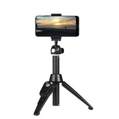 360 Degree Handheld bluetooth Selfie Stick Tripod Shutter Live Streaming Phone Remote