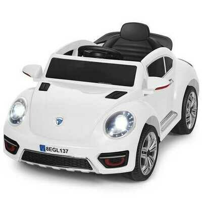 Kids Electric Ride On Car Battery Powered -White