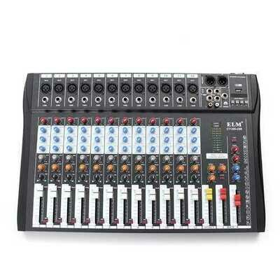 EL M CT-120S 12 Channel Professional Live Studio Audio Mixer Power USB Mixing Console