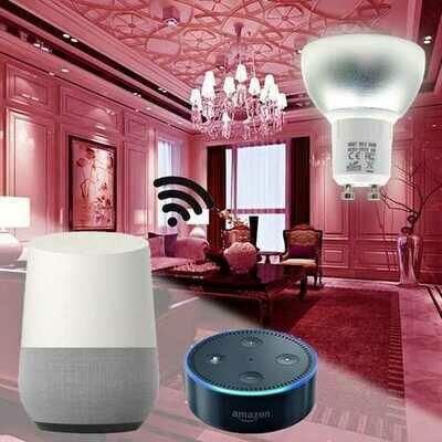 GU10 5W WiFi Smart APP RGBW LED Downlight Bulb Work with Alexa Echo Home Assistance AC85-265V