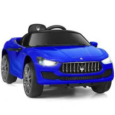 12 V Remote Control Maserati Licensed Kids Ride on Car-Blue