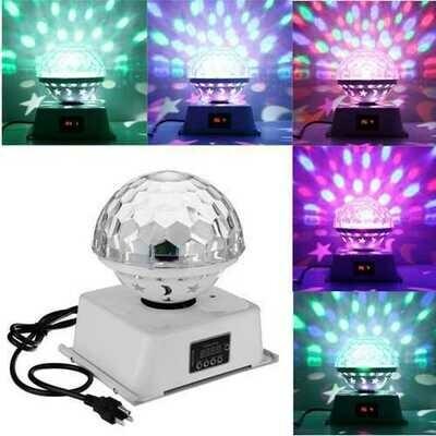 18W DMX512 6 LED RGB Stage Light Magic Ball Laser Light for Bar DJ KTV Halloween Christmas Party