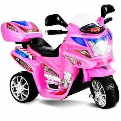 20-day Presell 3 Wheel Kids Ride On Motorcycle 6V Battery Powered Electric Toy Power Bicyle New-pink