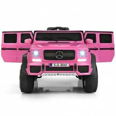 12V Licensed Mercedes-Benz Kids Ride On Car-Pink