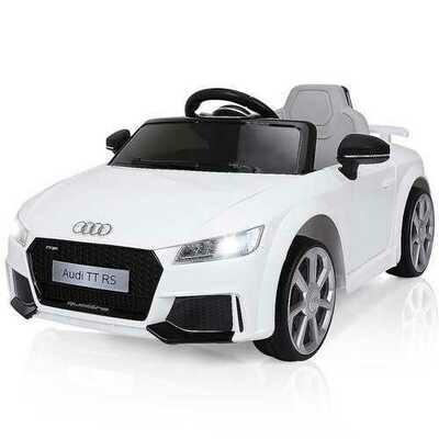 12V Audi TT RS Electric Remote Control MP3 Kids Riding Car-White