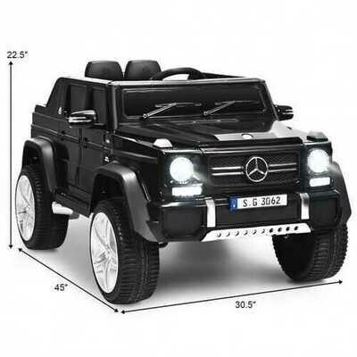 12V Licensed Mercedes-Benz Kids Ride On Car-Black