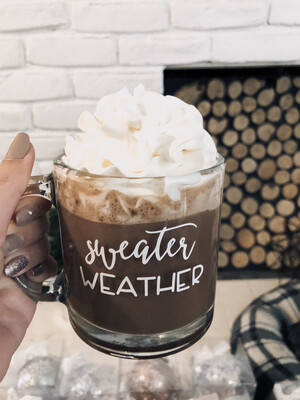 Sweater Weather Glass Mug