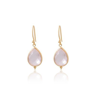 Amma Earrings • Rose Quartz