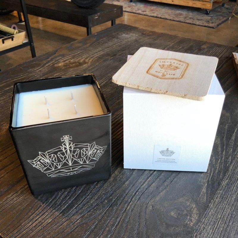 Jumbo Imperial Moto Candle - Geometric Crown