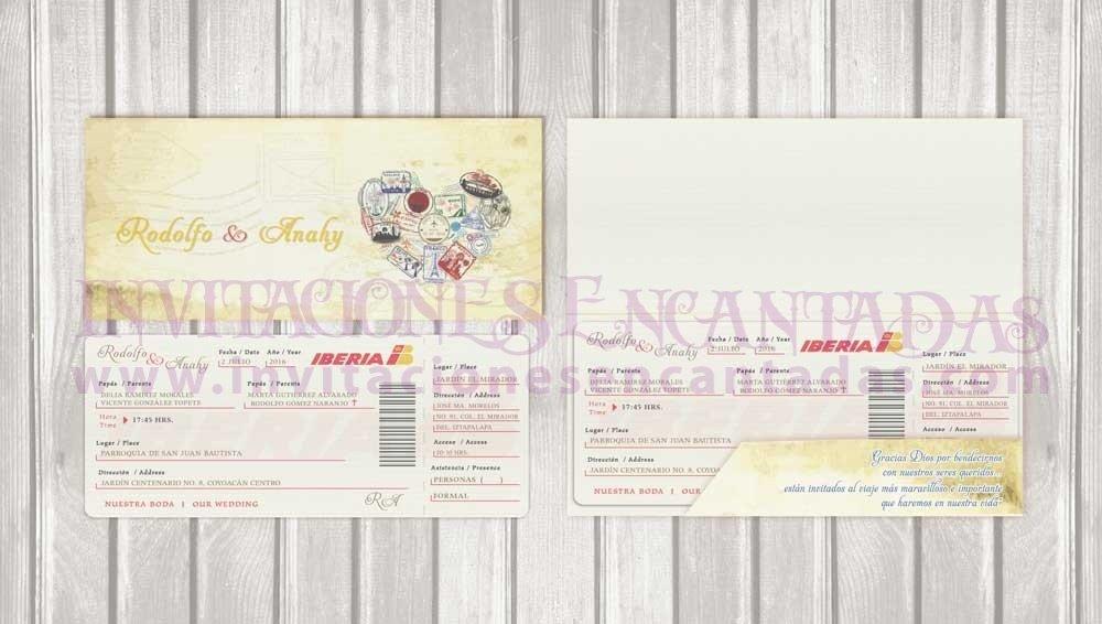 Invitación Ticket con Porta Ticket 01
