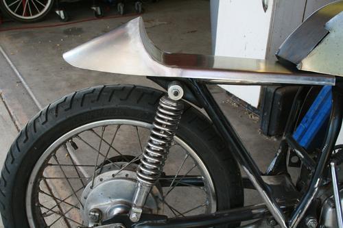 Aluminum No.9 Fast Back Universal Cafe Racer Seat Honda CB350