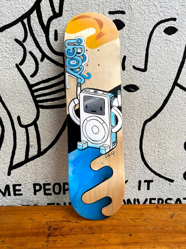 One off hand-painted iBoy  Skateboard deck