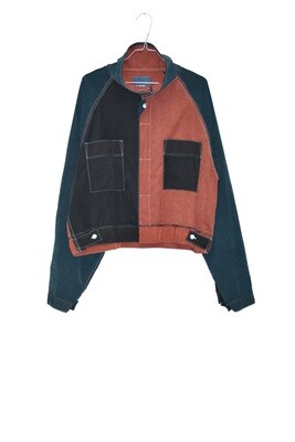 RAGLAN JACK SHORT RUST - PATCHWORK