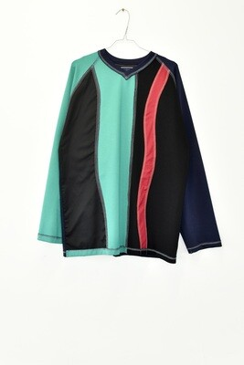 RAGLAN LONGSLEEVE - GREEN MULTI COLOUR