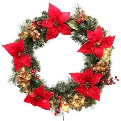 Handmade Green 24-Inch Wreath (Pre-Order)