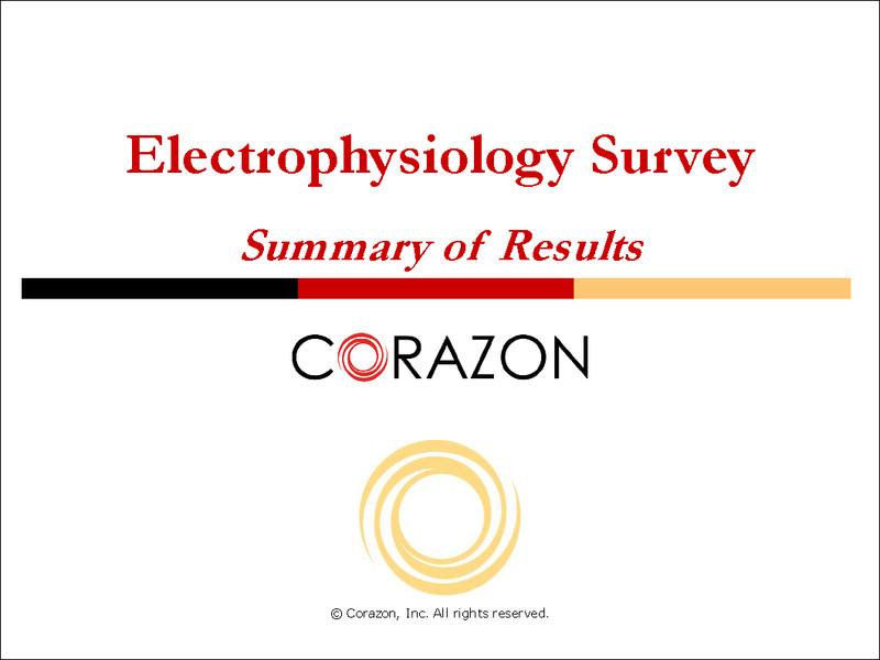 Electrophysiology Survey Summary