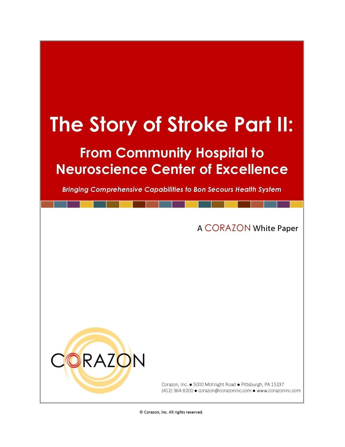 The Story of Stroke Part II: From Community Hospital to Neuroscience Center of Excellence
