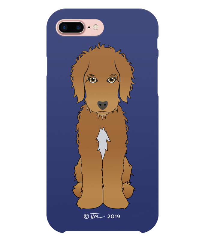 Cockapoo - Brown on French Navy