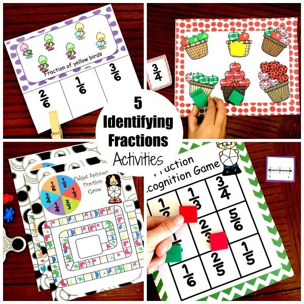 5 Identifying Fraction Activities