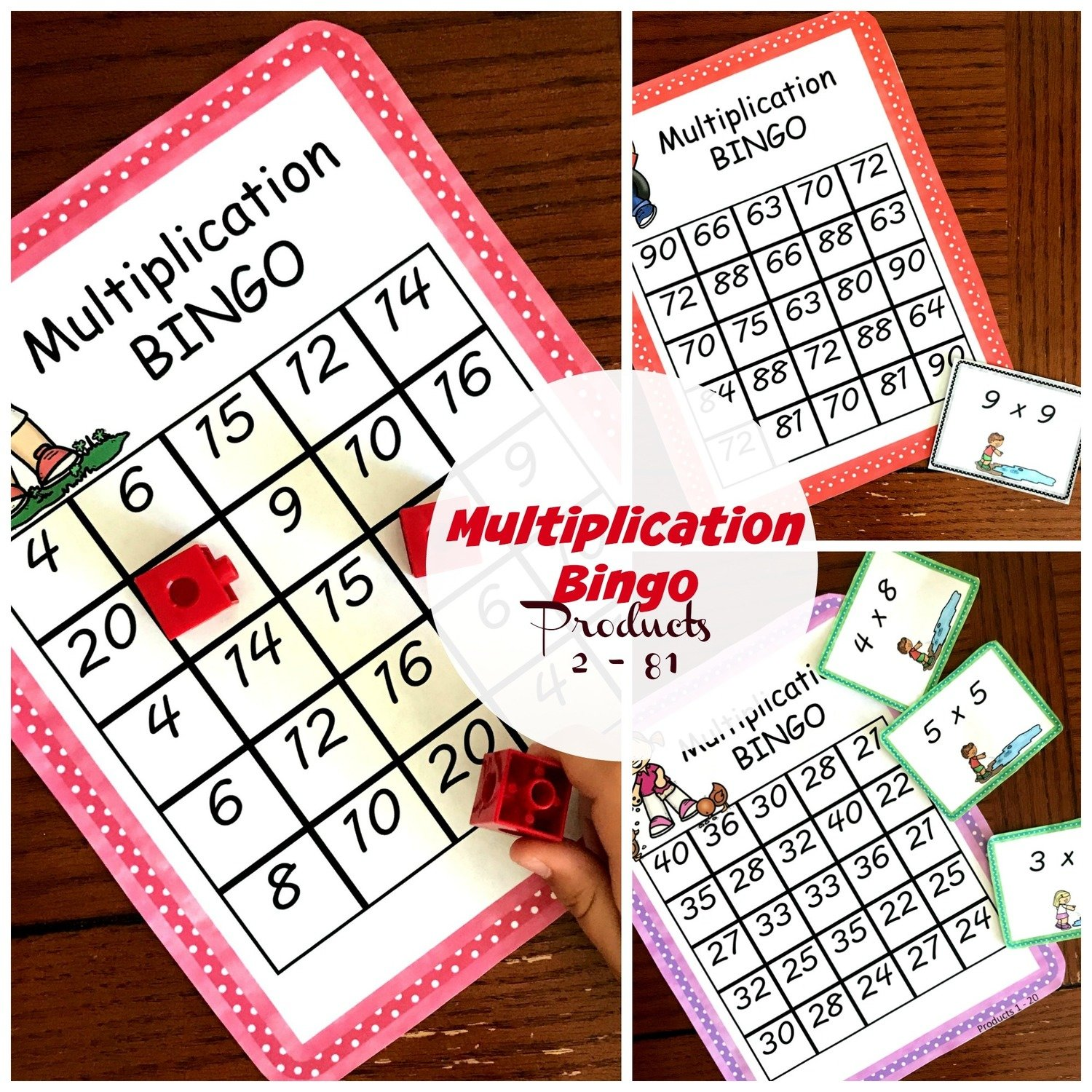 Multiplication BINGO - A Fun Game to Practice Multiplication Facts