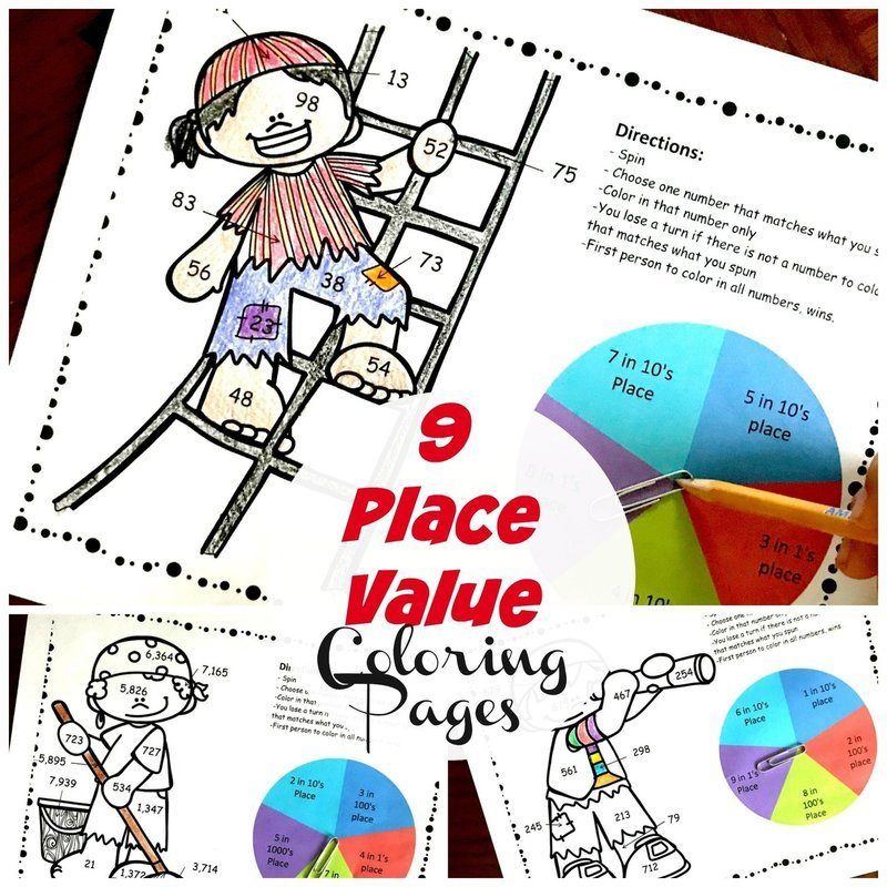 Pirate Place Value Coloring  Pack