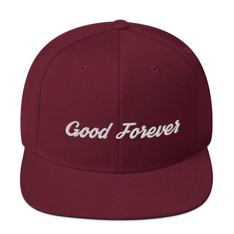 Good Forever Crimson Signature Snapback Hat