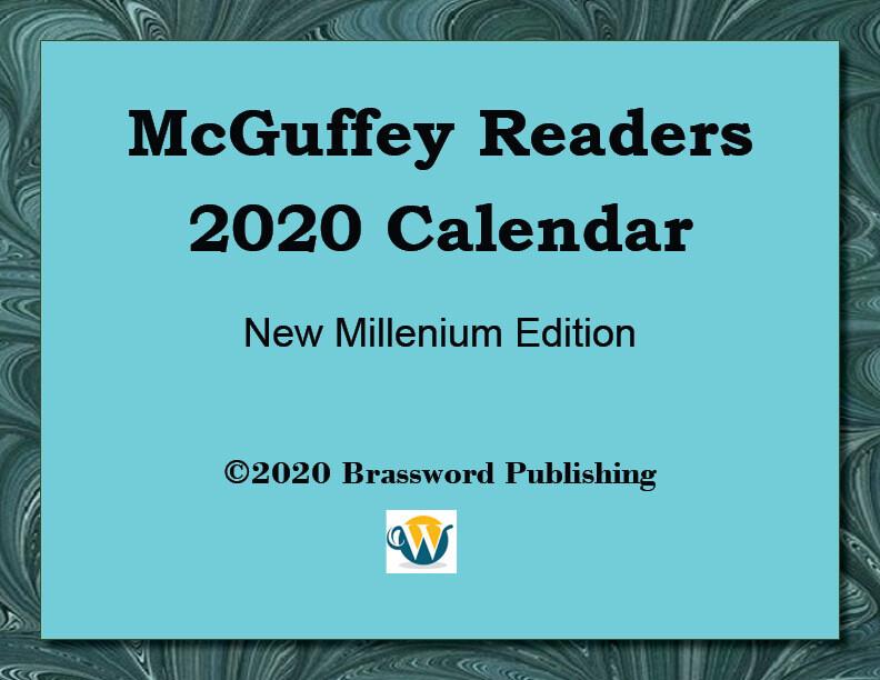 McGuffey Readers 2020 Digital Calendar