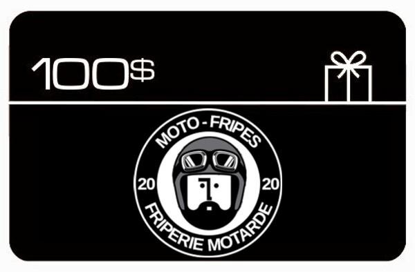 Carte-cadeau Moto-Fripes Votre Friperie Motarde