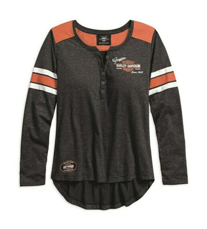 Chandail à manches Longues pour Femmes Harley-Davidson® Henley Blanc cassé 99070-18VW