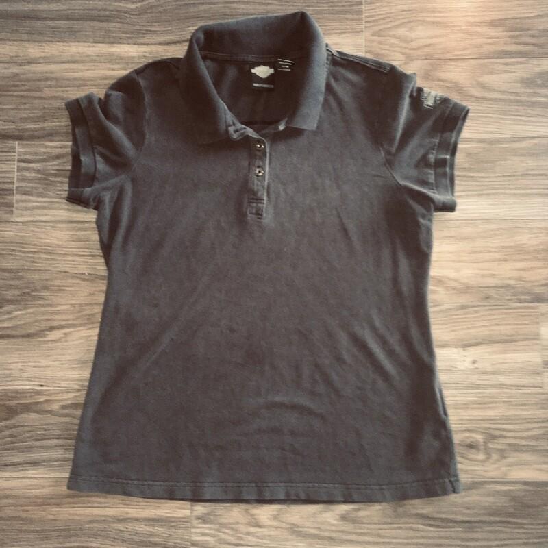Polo à manches courtes pour Femme Harley-Davidson® noir délavé 96094-17VW