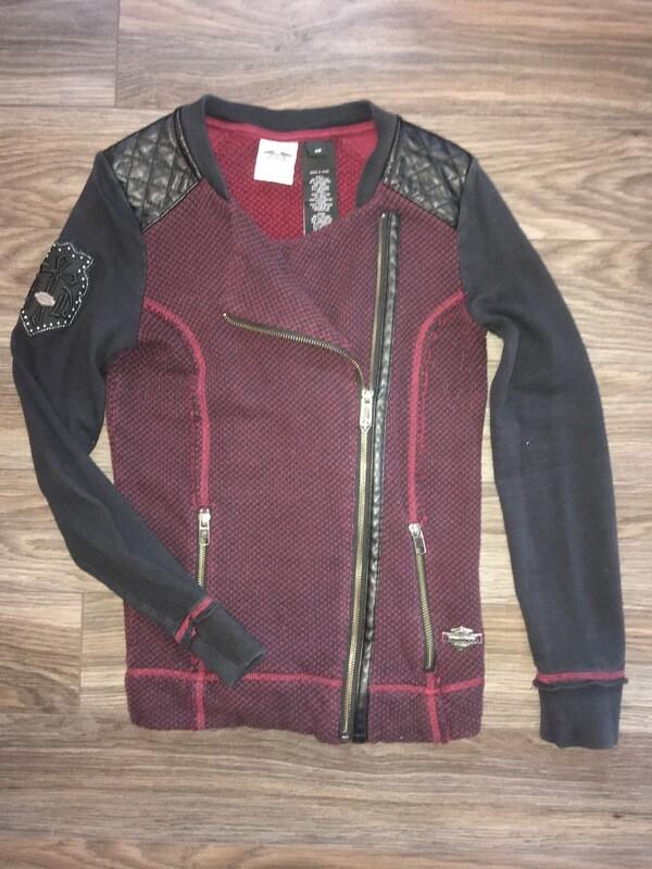 Cardigan bicolore style motard pour femme Harley-Davidson® 96169-16VW