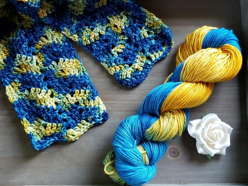 Starry Night Scarf Crochet Kit