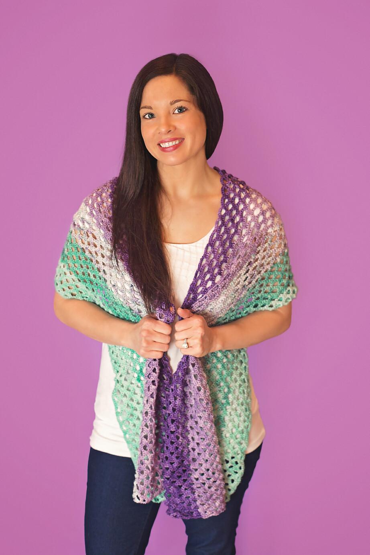 Mermaid Shawl Crochet Kit Made To Order