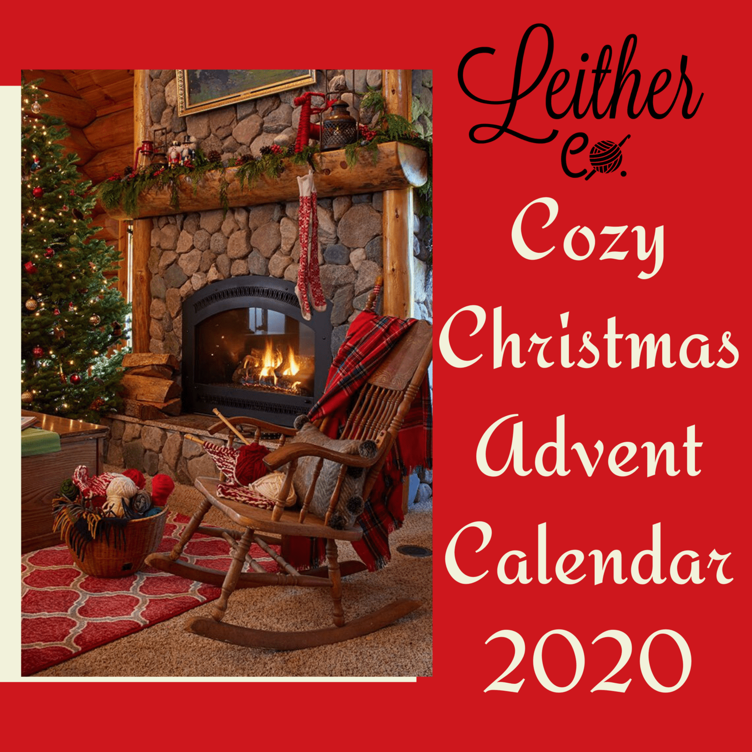 Cozy Christmas Advent Calendar Yarn Box