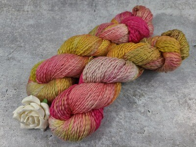 Tropical Flowers Cotton Hand Dyed Yarn